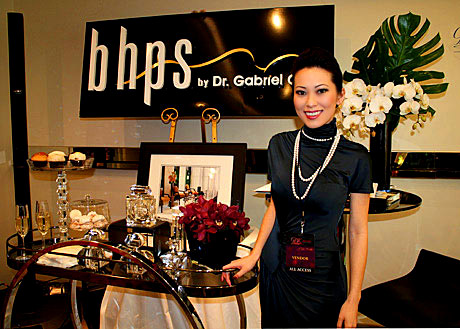 Christine Chiu, who runs Beverly Hills Plastic Surgery meticulously, at the GBK Oscar Gifting Suites.