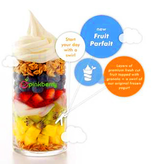 The new Pinkberry Parfait for summer.