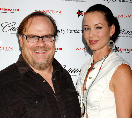 Comedian/Actor Kevin Farley with designer Fay Byrd.
