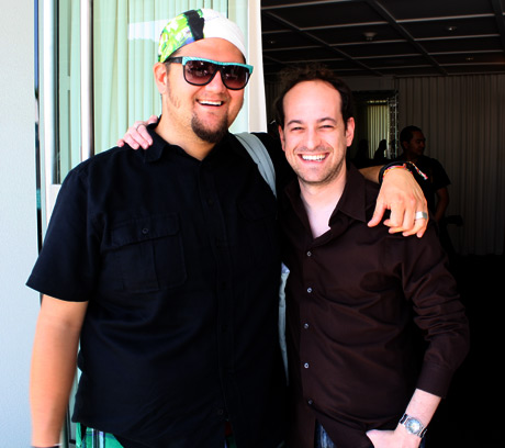 Project Runway's Season 1 winner, Jay McCarroll and manager Marc Marcuse.