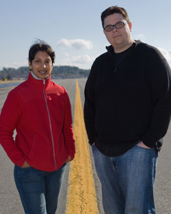 Producer Gita Pullapilly and Director Aron Gaudet 