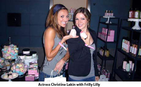 Christine Lakin with Frilly Lilly at the Silver Spoon Gift Suite
