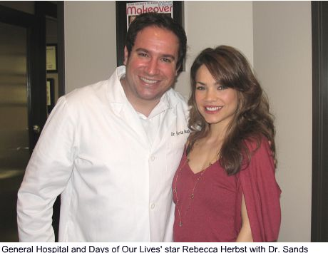 Dr. Sands with Rebecca Hurbst