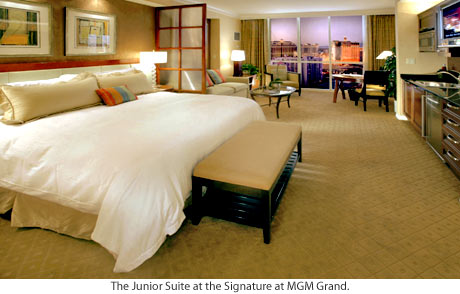 One of the elegant suite at the Signature at MGM Grand