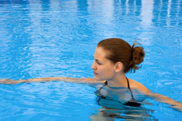 Aquatic Fitness - Woman in the Pool