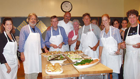 Chef Warren Schwartz cooking class