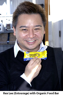 Rex Lee with Organic Food Bar