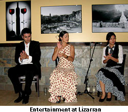 Entertainment at Lizarran Tapas Restaurant
