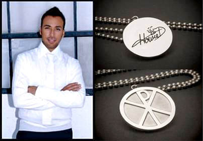 Howie Dorough and the Rock Your Religion pendant.