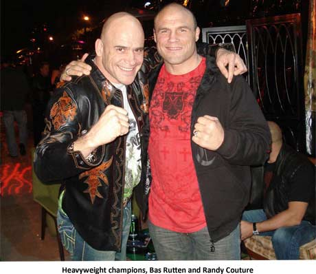 Heavyweight champions, Bas Rutten and Randy Couture