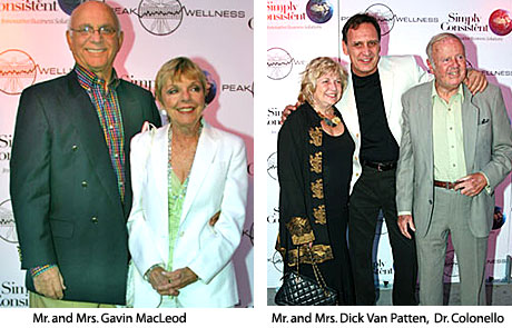 Mr. and Mrs. Gavin MacLeod, Mr. and Mrs. Dick Van Patten, and Dr. Colonello