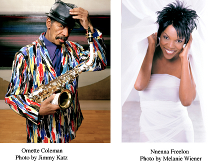 Ornette Coleman and Nnenna Freelon