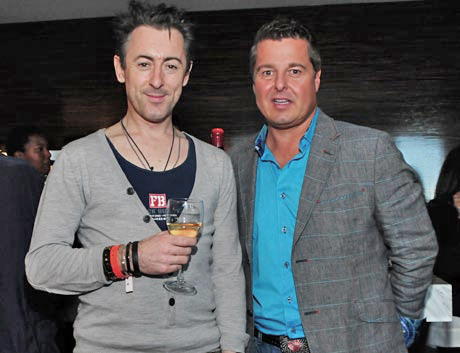 Scottish actor Actor Alan Cumming with Johndrow Vineyards' Owner David Johndrow.