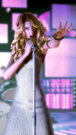 Taylor Swift in Band Hero