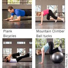 Flatter abs exercises