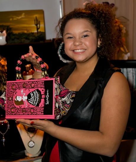 Rachel Crow pictured with The Write Stuff