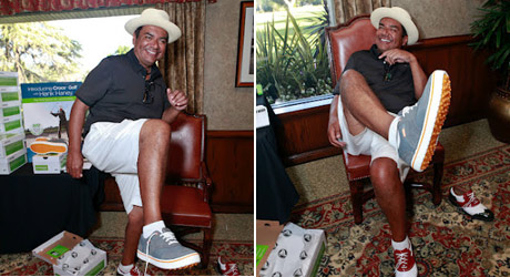 George Lopez with Crocs Golf
