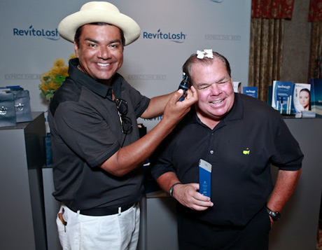 George Lopez &amp; Friend Bruce McNall with Revitalash