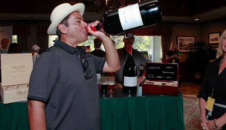 George Lopez at Black Cat Vineyard