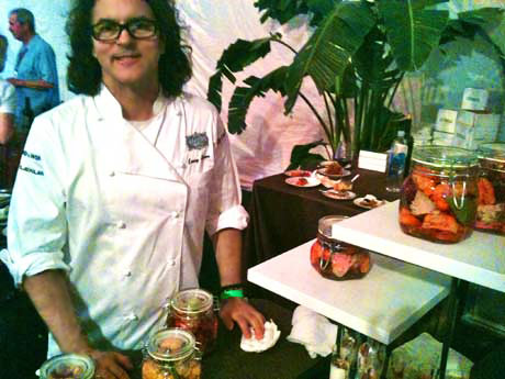 Chef Kerry Simon from LA Market at Los Angeles Food & Wine, August 11, 2012