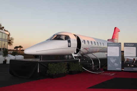 Flexjet Learjet 85 Tour at the NBAA in Orlando, Florida. Photo by Jason Tinacci / TinacciPhoto.com