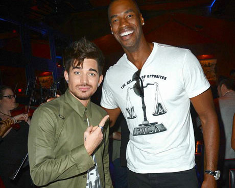 Singer Adam Lambert and Pro Basketballer Jason Collins
