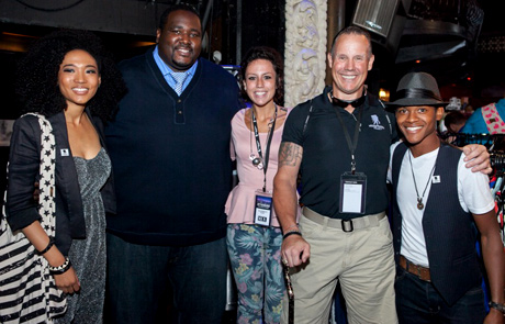 The Voice star Judith Hill, actor Quinton Aaron, Wounded Warrior Project guests Elizabeth and Tim Hunt and actor Ocatvius J. Johnson  - Albert Evangelista Photography