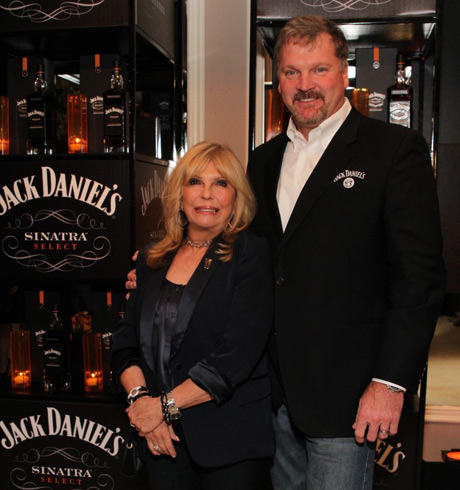 Singer/actor Nancy Sinatra and Master Distiller for Jack Daniels, Jeff Arnett