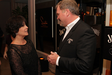 Tina Sinatra chats with Jack Daniel's Master Distiller Jeff Arnett at the