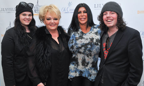 Actress Big Ang with Grace, Heather and Jeffery