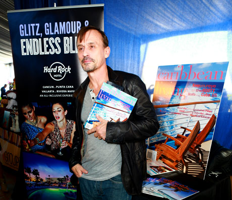 Actor Robert Knepper with Caribbean Living, looking forward to his getaway!
