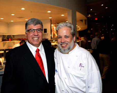 Figue Mediterranean in owner Lee Morcus, with Chef Francois.