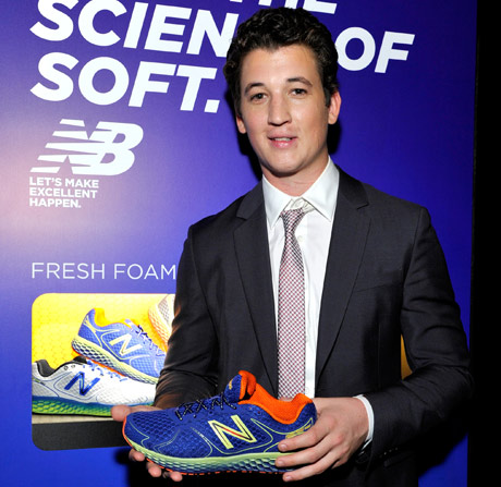 Actor Miles Teller approved of the new style and feel of New  Balance Fresh Foam 980.