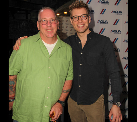 Wounded Warrior Jim Mylott with actor Barrett Foa - Photo: Igor Spektor