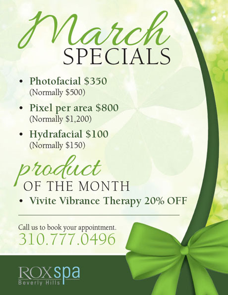 Rox Spa March Beauty Specials