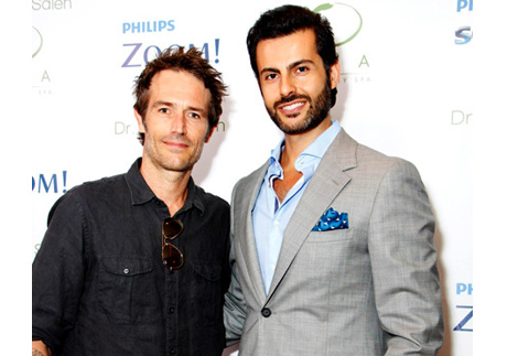Dr. Sam Saleh with actor Michael Vartan