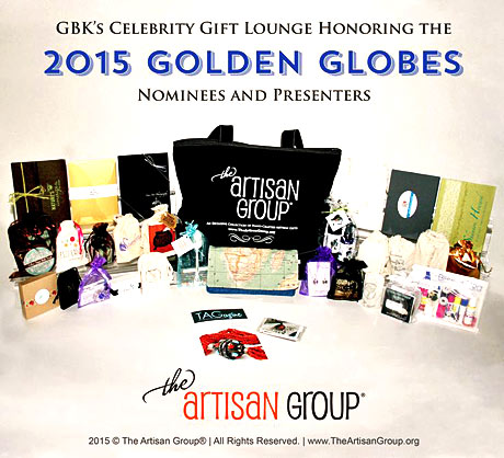 The Artisan Group gift bag for the Golden Globes.