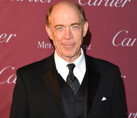 J.K Simmons on the red carpet after receiving the Spotlight Award for hi role in Whiplash