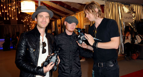 (L-R) Musicians Jason Wade, Rick Woolstenhulme Jr. and Bryce Soderberg of Lifehouse