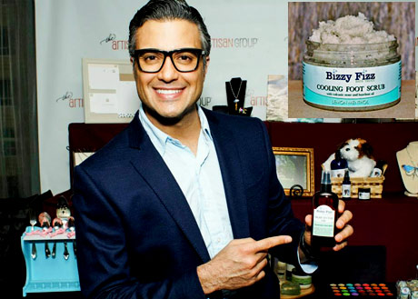 Golden Globe Nominee for Television Show or Movie Jaime Camil of Jane The Virgin with Bizzy Fizz Bath Treats