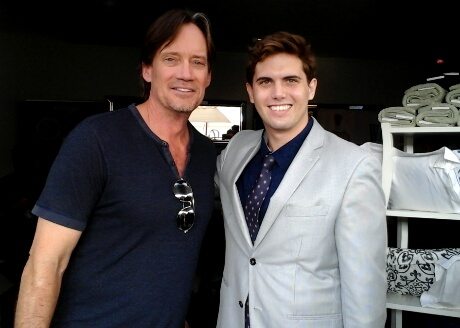 Actor Kevin Sorbo and LATP Media's Tyler Emery.