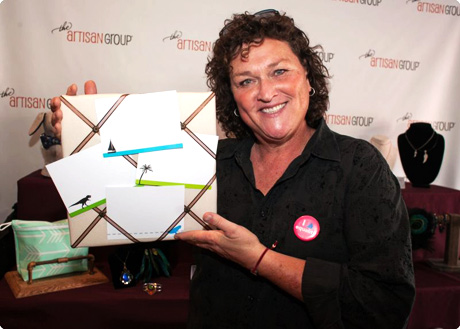 Dot Marie Jones of Glee with Fiona Designs Stationery.