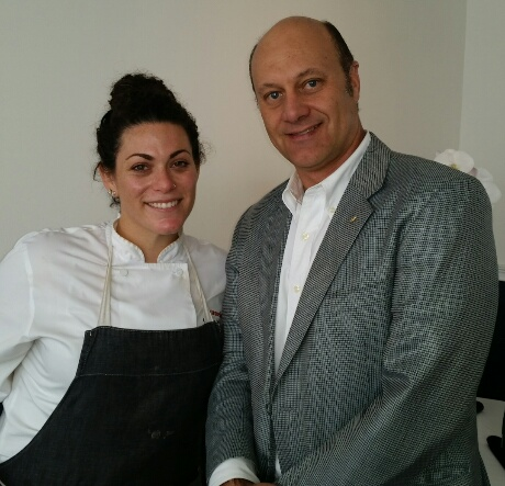 Executive Chef Giselle Wellman with Alain Gayot of Gayot.com