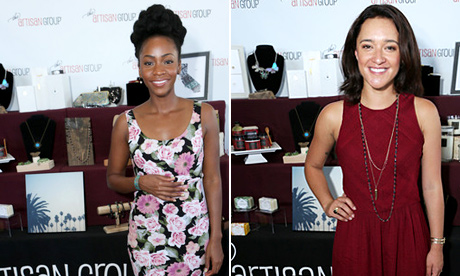 Teyonah Parris & Keisha Castle-Hughes with Artisan Group.