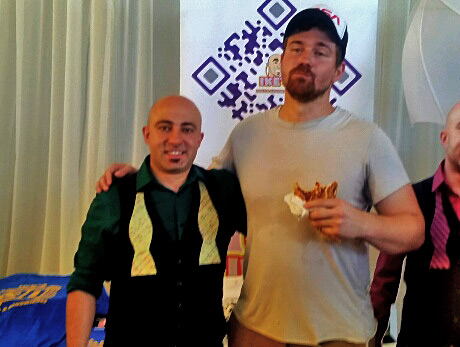 Founder Ike Shehadeh with actor Josh Kelly,(Transformers)