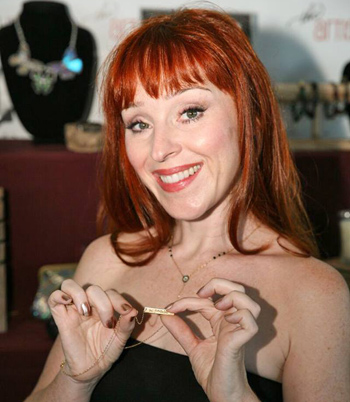 Ruth Connell of Supernatural with DesignMe Jewelry.