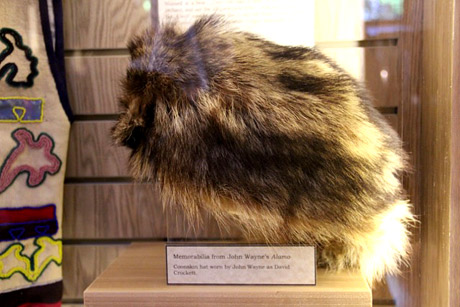 Coonskin cap that John Wayne wore in the 1960 Alamo movie