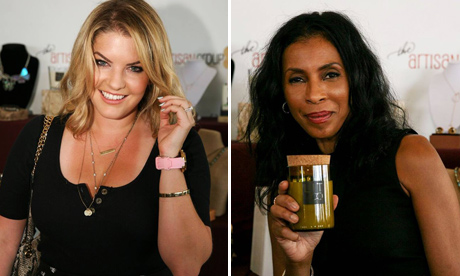 "Pandora Vanderpump of Real Housewives of Beverly Hills; Khandi Alexander of ""Scandal"" with the Artisan Group jewelry designs."