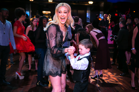 Peta Murgatroyd dances with a future dance star, Nate!