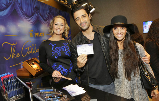 Actor Gilles Marini and his wife Carole at the Pilot Pen GBK 2016 Golden Globe Gift Suite.